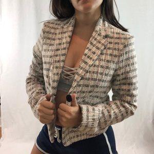 Top Shop | One Button Pocket Blazer Top Size 4